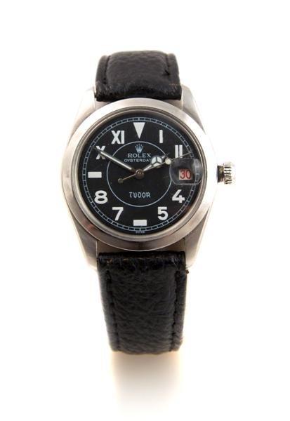 4: A Stainless Steel Oysterdate Tudor Wristwatch, Rolex