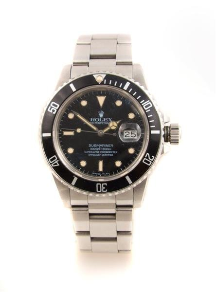 7: A Stainless Steel Submariner Oyster Perpetual Wristw