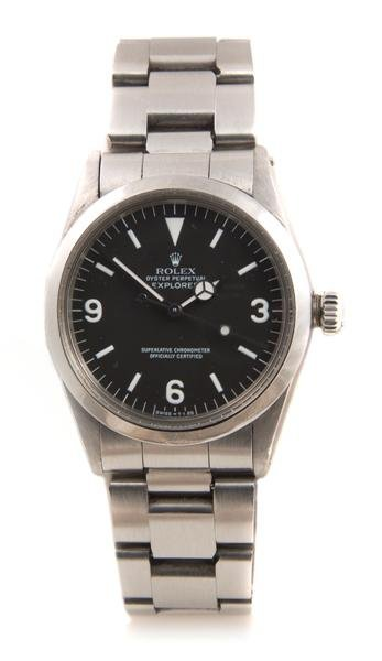 8: A Stainless Steel Oyster Perpetual Explorer 1 Model