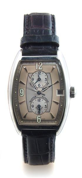 13: A Stainless Steel Triple Time Zone Master Banker 28