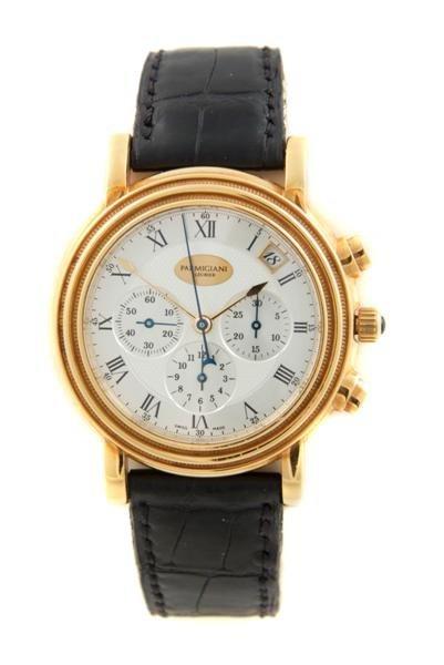 15: An 18 Karat Rose Gold Chronograph Wristwatch, Parmi