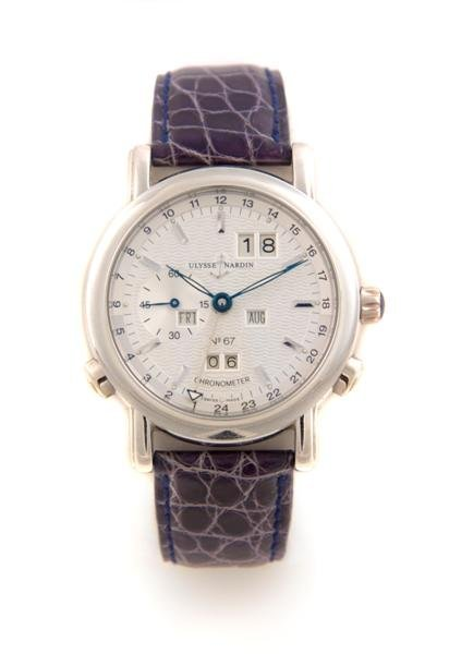 17: An 18 Karat White Gold Automatic Perpetual Calendar