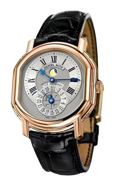 21: An 18 Karat Rose Gold Perpetual Calendar Wristwatch