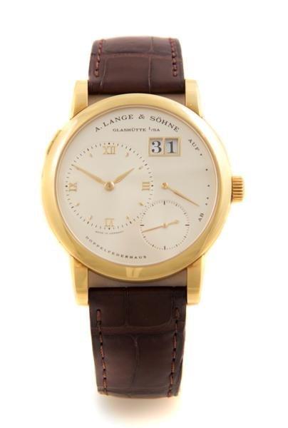 23: An 18 Karat Yellow Gold Lange 1 Wristwatch, A. Lang