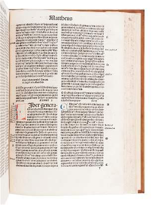 [BIBLE, in Latin]. Biblia. [Basel: Johann Amerbach or