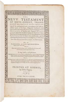 [BIBLE, in English]. The New Testament of Jesus Christ,