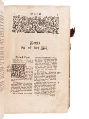 "[BIBLE, in German]. Die gantze Bibel""¦ Strassburg:"