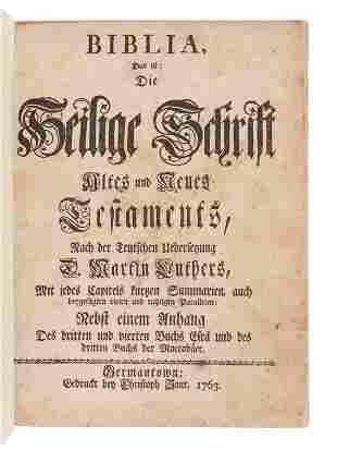 [BIBLE, in German]. Biblia, das ist, Die Heilige