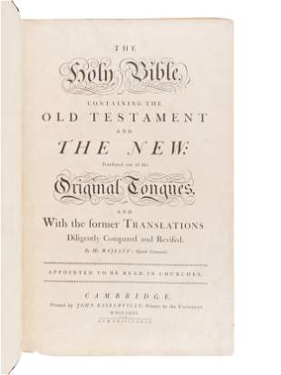 [BIBLE, in English]. The Holy Bible, containing the Old