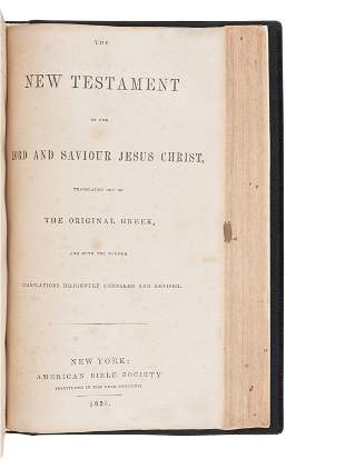 [BIBLES - AMERICAN BIBLE SOCIETY]. A group of 4 Bibles,