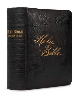 [BIBLES - 19th CENTURY]. A group of 5 Bibles,