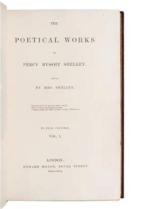 SHELLEY, Percy Bysshe (1792-1822). The Poetical Works.