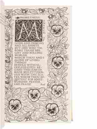 SHELLEY, Percy Bysshe (1792-1822).The Poems. London: