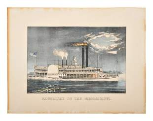 [MISSISSIPPI RIVER NIGHT SCENES] -- CURRIER and IVES,