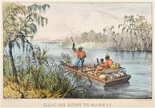 [MISSISSIPPI RIVER SCENES] -- CURRIER and IVES,