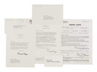 REAGAN, Ronald (1911-2004). Typed letter signed as