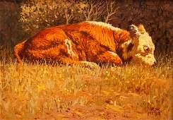 Robb Woods (American, 20th century) Sleepy, 1983
