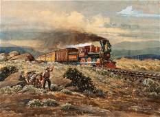 Lloyd Harting (American, 1901-1974) High Iron to the