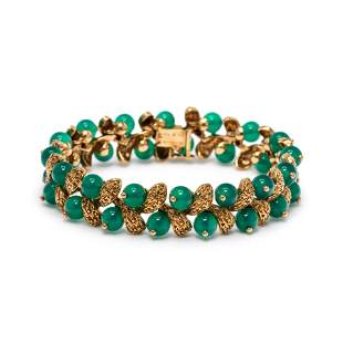 VAN CLEEF & ARPELS, YELLOW GOLD AND CHRYSOPRASE