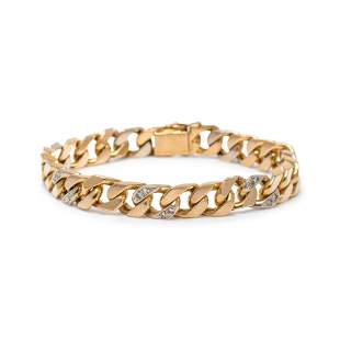 VAN CLEEF & ARPELS, YELLOW GOLD AND DIAMOND BRACELET