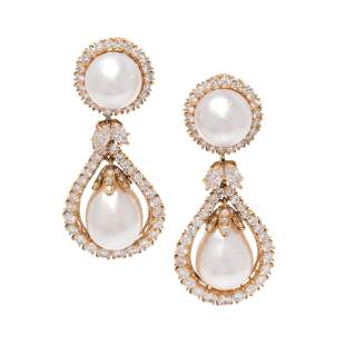 HARRY WINSTON, CULTURED PEARL AND DIAMOND CONVERTIBLE
