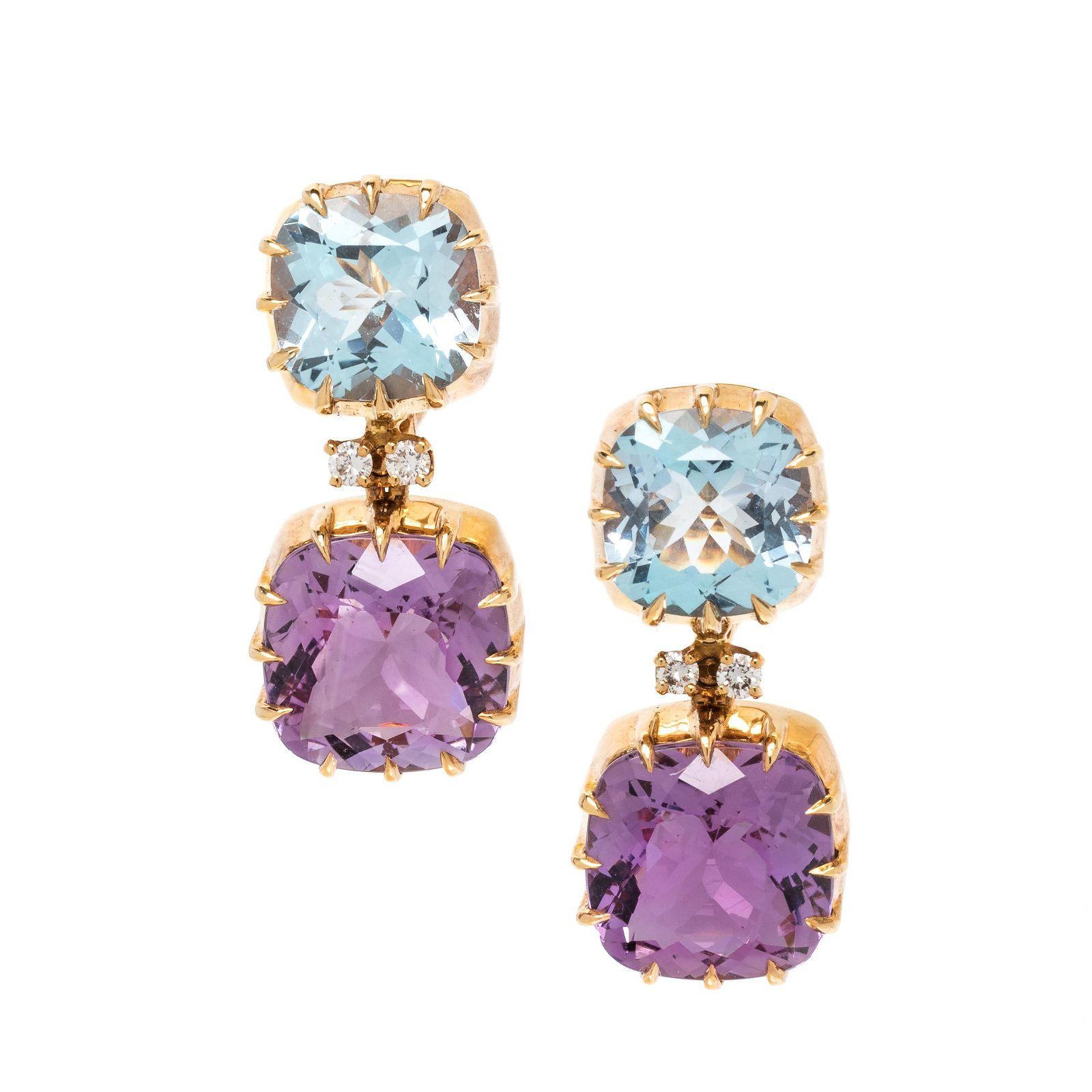 SEAMAN SCHEPPS, BLUE TOPAZ, AMETHYST AND DIAMOND