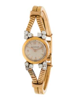 JAEGER-LeCOULTRE, 18K YELLOW GOLD AND DIAMOND