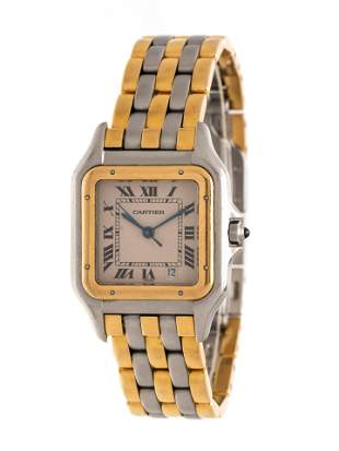 CARTIER, STAINLESS STEEL AND YELLOW GOLD REF. 187949