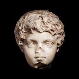 A Roman Marble Portrait Head of the Young Caracalla