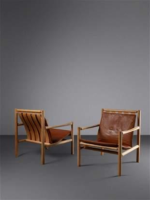 Jorgen Nilsson (Danish, 20th Century) Pair of Lounge