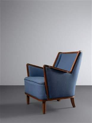 Danish Cabinetmaker Mid 20th Century Lounge Chair