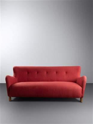 Fritz Hansen Denmark, Mid 20th Century Sofa, model