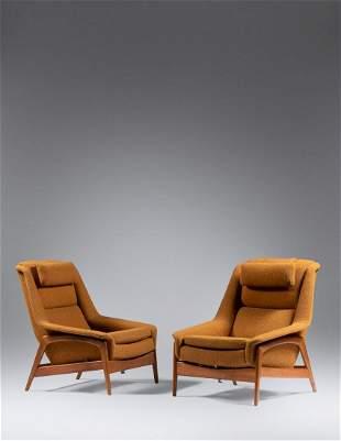 Folke Ohlsson (Swedish, 1919-2003) Pair of Lounge