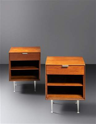 George Nelson & Associates (American, 1908-1986) Pair