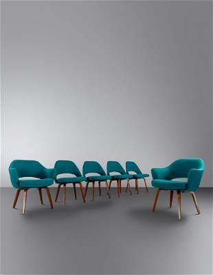 Eero Saarinen (Finnish/American, 1910-1961) Set of Six