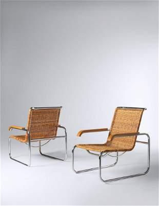 Marcel Breuer (Hungarian/American, 1902-1981) Pair of
