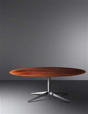 Florence Knoll (American, 1917-2019) Oval Dining Table