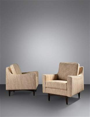 Italian Style Mid 20th Century Pair of Modernist Lounge