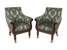 A Pair of Regency Bergeres Attributed to Gillows