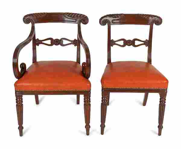 A Set of Seven Regency Dining Chairs Attr. to Gillows