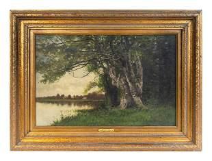 Charles Harry Eaton (American, 1850-1901) The Lake