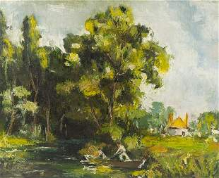 Anthony Thieme (American, 1888-1954) Riverscape with