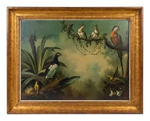 American School (19th Century) Tropical Birds