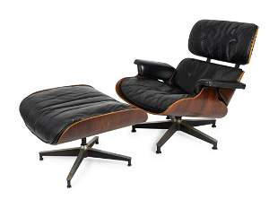 A Herman Miller Charles and Ray Eames Lounge Chair