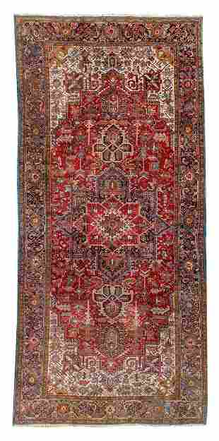 A Heriz Design Wool Rug 20 feet 5 inches x 10 feet 3
