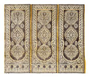 A Moroccan Silk and Wool Panel Height 62 x width 73