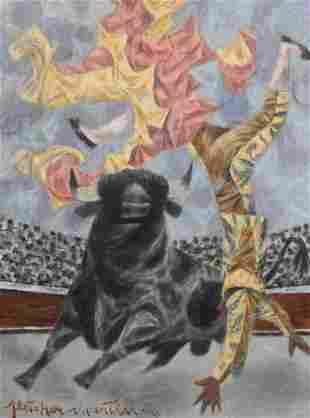 Fletcher Martin (American, 1904-1979) The Toss, 1959