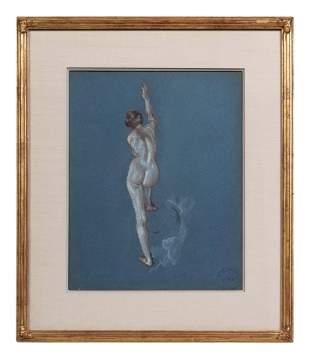 Arthur B. Davies (American, 1862-1928) Standing Nude,