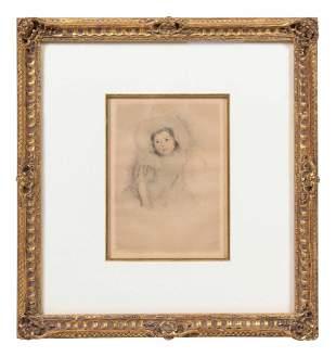 Mary Cassatt (American, 1844-1926) Margot Wearing a