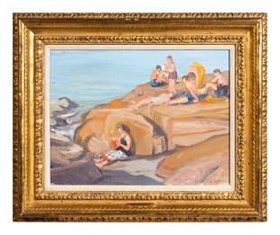 Anne Carleton (American, 1878-1968) Inhabited Rocks,
